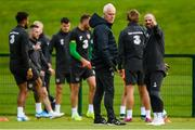 9 September 2019; Republic of Ireland manager Mick McCarthy and fitness coach Andy Liddle, right, during a Republic of Ireland training session at the FAI National Training Centre in Abbotstown, Dublin. Photo by Stephen McCarthy/Sportsfile