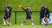 9 September 2019; Jack Byrne during a Republic of Ireland training session at the FAI National Training Centre in Abbotstown, Dublin. Photo by Stephen McCarthy/Sportsfile