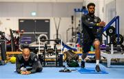 9 September 2019; Darren Randolph and Cyrus Christie, right, during a Republic of Ireland gym session at the FAI National Training Centre in Abbotstown, Dublin. Photo by Stephen McCarthy/Sportsfile