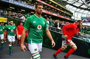 7 September 2019; Jean Kleyn of Ireland walks out prior to during the Guinness Summer Series match between Ireland and Wales at Aviva Stadium in Dublin. Photo by Brendan Moran/Sportsfile