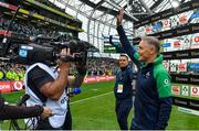 7 September 2019; Ireland head coach Joe Schmidt waves to supporters after the Guinness Summer Series match between Ireland and Wales at Aviva Stadium in Dublin. Photo by Brendan Moran/Sportsfile