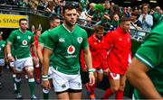 7 September 2019; Robbie Henshaw of Ireland walks out prior to during the Guinness Summer Series match between Ireland and Wales at Aviva Stadium in Dublin. Photo by Brendan Moran/Sportsfile
