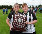 8 September 2019; Niamh O'Doherty, left, and Tasha Graham of Whitehall Rangers following the FAI Women's Intermediate Shield Final match between Manulla FC and Whitehall Rangers at Mullingar Athletic FC in Mullingar, Co. Westmeath. Photo by Seb Daly/Sportsfile