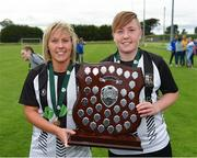 8 September 2019; Charlie Graham, left, and Tasha Graham of Whitehall Rangers following the FAI Women's Intermediate Shield Final match between Manulla FC and Whitehall Rangers at Mullingar Athletic FC in Mullingar, Co. Westmeath. Photo by Seb Daly/Sportsfile