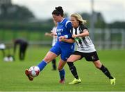 8 September 2019; Rachel Barrett of Manulla FC in action against Charlie Graham of Whitehall Rangers during the FAI Women's Intermediate Shield Final match between Manulla FC and Whitehall Rangers at Mullingar Athletic FC in Mullingar, Co. Westmeath. Photo by Seb Daly/Sportsfile