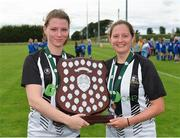 8 September 2019; Helen Cooney, left, and Rachel McLoughlin of Whitehall Rangers following the FAI Women's Intermediate Shield Final match between Manulla FC and Whitehall Rangers at Mullingar Athletic FC in Mullingar, Co. Westmeath. Photo by Seb Daly/Sportsfile