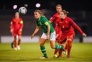 3 September 2019; Katie McCabe of Republic of Ireland and Maja Šaranovic of Montenegro during the UEFA Women's 2021 European Championships Qualifier Group I match between Republic of Ireland and Montenegro at Tallaght Stadium in Dublin. Photo by Stephen McCarthy/Sportsfile