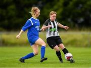 8 September 2019; Tasha Graham of Whitehall Rangers in action against Niamh Flannery of Manulla FC during the FAI Women's Intermediate Shield Final match between Manulla FC and Whitehall Rangers at Mullingar Athletic FC in Mullingar, Co. Westmeath. Photo by Seb Daly/Sportsfile
