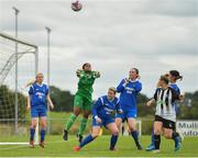 8 September 2019; Simona Fernandes of Manulla FC punches the ball away during the FAI Women's Intermediate Shield Final match between Manulla FC and Whitehall Rangers at Mullingar Athletic FC in Mullingar, Co. Westmeath. Photo by Seb Daly/Sportsfile