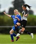 8 September 2019; Michelle Walls of Whitehall Rangers in action against Laura Regan of Manulla FC during the FAI Women's Intermediate Shield Final match between Manulla FC and Whitehall Rangers at Mullingar Athletic FC in Mullingar, Co. Westmeath. Photo by Seb Daly/Sportsfile
