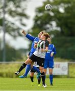 8 September 2019; Aoife Freyne of Manulla FC in action against Rachel McLoughlin of Whitehall Rangers during the FAI Women's Intermediate Shield Final match between Manulla FC and Whitehall Rangers at Mullingar Athletic FC in Mullingar, Co. Westmeath. Photo by Seb Daly/Sportsfile