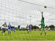 8 September 2019; Simona Fernandes of Manulla FC makes a save during the FAI Women's Intermediate Shield Final match between Manulla FC and Whitehall Rangers at Mullingar Athletic FC in Mullingar, Co. Westmeath. Photo by Seb Daly/Sportsfile