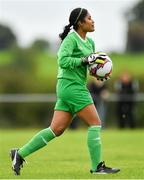 8 September 2019; Simona Fernandes of Manulla FC during the FAI Women's Intermediate Shield Final match between Manulla FC and Whitehall Rangers at Mullingar Athletic FC in Mullingar, Co. Westmeath. Photo by Seb Daly/Sportsfile