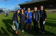 7 September 2019; Attendees, from left, ASI information manager Samantha Taylor, ASI head of fundraising Mairéad Dillon, Tipperary captain Michael Cleary, ASI CEO Pat McLoughlin and ASI Communications manager Cormac Cahill after The Alzheimer Society of Ireland hosting Bluebird Care sponsored Tipperary v Limerick hurling fundraiser match at Nenagh Éire Óg, Nenagh, Co Tipperary. This unique fundraising initiative, to mark World Alzheimer's Month 2019, was the brainchild of two leading Munster dementia advocates, Kevin Quaid and Kathy Ryan, who both have a dementia diagnosis. All the money raised will go towards providing community services and advocacy supports in the Munster area and beyond. Photo by Piaras Ó Mídheach/Sportsfile