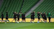 9 September 2019; A general view of the warm-up before a Bulgaria Squad Training Session at Aviva Stadium in Dublin. Photo by Piaras Ó Mídheach/Sportsfile