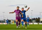 9 September 2019; Kenny Browne of Waterford in action against Patrick Hoban of Dundalk during the Extra.ie FAI Cup Quarter-Final match between Waterford and Dundalk at the Waterford Regional Sports Centre in Waterford. Photo by Seb Daly/Sportsfile
