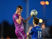 9 September 2019; Cameron Dummigan of Dundalk in action against William Fitzgerald of Waterford during the Extra.ie FAI Cup Quarter-Final match between Waterford and Dundalk at the Waterford Regional Sports Centre in Waterford. Photo by Seb Daly/Sportsfile