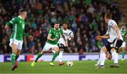 9 September 2019; Stuart Dallas of Northern Ireland during the UEFA EURO2020 Qualifier Group C match between Northern Ireland and Germany at the National Stadium at Windsor Park in Belfast. Photo by Ramsey Cardy/Sportsfile
