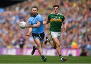 1 September 2019; Jack McCaffrey of Dublin in action against Seán O'Shea of Kerry during the GAA Football All-Ireland Senior Championship Final match between Dublin and Kerry at Croke Park in Dublin. Photo by Brendan Moran/Sportsfile