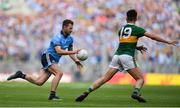 1 September 2019; Jack McCaffrey of Dublin in action against Jack Sherwood  of Kerry during the GAA Football All-Ireland Senior Championship Final match between Dublin and Kerry at Croke Park in Dublin. Photo by Brendan Moran/Sportsfile