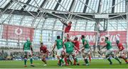 7 September 2019; Ross Moriarty of Wales wins possession from a line-out during the Guinness Summer Series match between Ireland and Wales at Aviva Stadium in Dublin. Photo by David Fitzgerald/Sportsfile