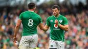 7 September 2019; Robbie Henshaw of Ireland, right, and Jack Conan during the Guinness Summer Series match between Ireland and Wales at Aviva Stadium in Dublin. Photo by David Fitzgerald/Sportsfile