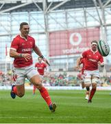 7 September 2019; George North of Wales during the Guinness Summer Series match between Ireland and Wales at Aviva Stadium in Dublin. Photo by David Fitzgerald/Sportsfile