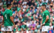 7 September 2019; Conor Murray, left, and Jonathan Sexton of Ireland during the Guinness Summer Series match between Ireland and Wales at Aviva Stadium in Dublin. Photo by David Fitzgerald/Sportsfile