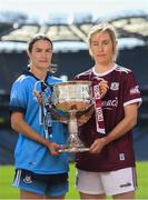 9 September 2019; In attendance at a photocall ahead of the TG4 All-Ireland Junior, Intermediate and Senior Ladies Football Championship Finals on Sunday next, are Dublin captain Sinéad Aherne and Galway captain Tracey Leonard. Photo by Ramsey Cardy/Sportsfile