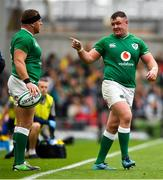 7 September 2019; Dave Kilcoyne of Ireland, right, and Sean Cronin during the Guinness Summer Series match between Ireland and Wales at Aviva Stadium in Dublin. Photo by David Fitzgerald/Sportsfile