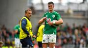 7 September 2019; Jonathan Sexton of Ireland with kicking coach Richie Murphy during the Guinness Summer Series match between Ireland and Wales at Aviva Stadium in Dublin. Photo by David Fitzgerald/Sportsfile