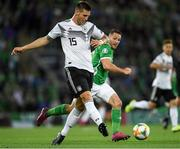 9 September 2019; Niklas Süle of Germany during the UEFA EURO2020 Qualifier - Group C match between Northern Ireland and Germany at the National Stadium at Windsor Park in Belfast. Photo by Ramsey Cardy/Sportsfile