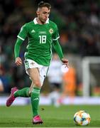 9 September 2019; Gavin Whyte of Northern Ireland during the UEFA EURO2020 Qualifier - Group C match between Northern Ireland and Germany at the National Stadium at Windsor Park in Belfast. Photo by Ramsey Cardy/Sportsfile