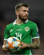 9 September 2019; Stuart Dallas of Northern Ireland during the UEFA EURO2020 Qualifier - Group C match between Northern Ireland and Germany at the National Stadium at Windsor Park in Belfast. Photo by Ramsey Cardy/Sportsfile