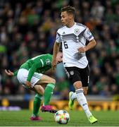 9 September 2019; Joshua Kimmich of Germany during the UEFA EURO2020 Qualifier - Group C match between Northern Ireland and Germany at the National Stadium at Windsor Park in Belfast. Photo by Ramsey Cardy/Sportsfile