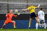 10 September 2019; Conor Masterson of Republic of Ireland shoots to score a goal for his side, which was subsequently disallowed, during the UEFA European U21 Championship Qualifier Group 1 match between Sweden and Republic of Ireland at Guldfågeln Arena in Hansa City, Kalmar, Sweden. Photo by Suvad Mrkonjic/Sportsfile