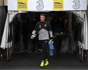 10 September 2019; Mark Travers of Republic of Ireland prior to the 3 International Friendly match between Republic of Ireland and Bulgaria at Aviva Stadium, Dublin. Photo by Stephen McCarthy/Sportsfile