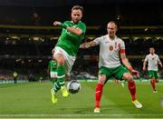 10 September 2019; Alan Judge of Republic of Ireland in action against Anton Nedyalkov of Bulgaria during the 3 International Friendly match between Republic of Ireland and Bulgaria at Aviva Stadium, Dublin. Photo by Seb Daly/Sportsfile