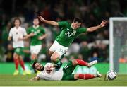 10 September 2019; Josh Cullen of Republic of Ireland in action against Kristiyan Malinov of Bulgaria during the 3 International Friendly match between Republic of Ireland and Bulgaria at Aviva Stadium, Dublin. Photo by Stephen McCarthy/Sportsfile