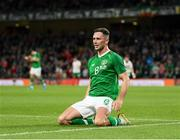 10 September 2019; Alan Browne of Republic of Ireland celebrates after scoring his side's first goal during the 3 International Friendly match between Republic of Ireland and Bulgaria at Aviva Stadium, Dublin. Photo by Stephen McCarthy/Sportsfile