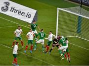 10 September 2019; Kevin Long of Republic of Ireland heads to score his side's second goal during the 3 International Friendly match between Republic of Ireland and Bulgaria at Aviva Stadium, Dublin. Photo by Ben McShane/Sportsfile
