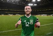 10 September 2019; Jack Byrne of Republic of Ireland following the 3 International Friendly match between Republic of Ireland and Bulgaria at Aviva Stadium, Dublin. Photo by Stephen McCarthy/Sportsfile