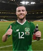 10 September 2019; Jack Byrne of Republic of Ireland during the 3 International Friendly match between Republic of Ireland and Bulgaria at Aviva Stadium, Dublin. Photo by Stephen McCarthy/Sportsfile