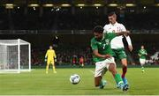 10 September 2019; Cyrus Christie of Republic of Ireland in action against Kiril Despodov of Bulgaria during the 3 International Friendly match between Republic of Ireland and Bulgaria at Aviva Stadium, Dublin. Photo by Eóin Noonan/Sportsfile