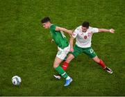 10 September 2019; Callum O'Dowda of Republic of Ireland in action against Ivan Goranov of Bulgaria during the 3 International Friendly match between Republic of Ireland and Bulgaria at Aviva Stadium, Dublin. Photo by Ben McShane/Sportsfile