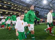 10 September 2019; Josh Cullen of Republic of Republic of Ireland walks out prior to the 3 International Friendly match between Republic of Ireland and Bulgaria at Aviva Stadium, Dublin. Photo by Stephen McCarthy/Sportsfile