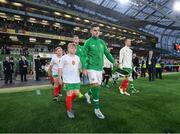 10 September 2019; John Egan of Republic of Ireland walks out prior to the 3 International Friendly match between Republic of Ireland and Bulgaria at Aviva Stadium, Dublin. Photo by Stephen McCarthy/Sportsfile
