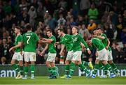 10 September 2019; Kevin Long of Republic of Ireland celebreates with team-matesafter scoring his side's second goal during the 3 International Friendly match between Republic of Ireland and Bulgaria at Aviva Stadium, Dublin. Photo by Stephen McCarthy/Sportsfile