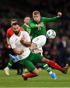 10 September 2019; James McClean of Republic of Ireland in action against Simeon Slavchev of Bulgaria during the 3 International Friendly match between Republic of Ireland and Bulgaria at Aviva Stadium, Dublin. Photo by Seb Daly/Sportsfile