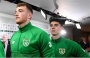 10 September 2019; Mark Travers and Callum O'Dowda, right, of Republic of Ireland prior to the 3 International Friendly match between Republic of Ireland and Bulgaria at Aviva Stadium, Lansdowne Road in Dublin. Photo by Stephen McCarthy/Sportsfile